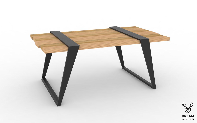 table-basse-frederique-chene-metal-noire