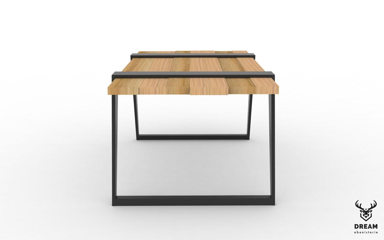 table-frederique-chene-metal-noire