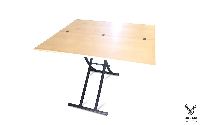table-relevable-erable-noire-depliable